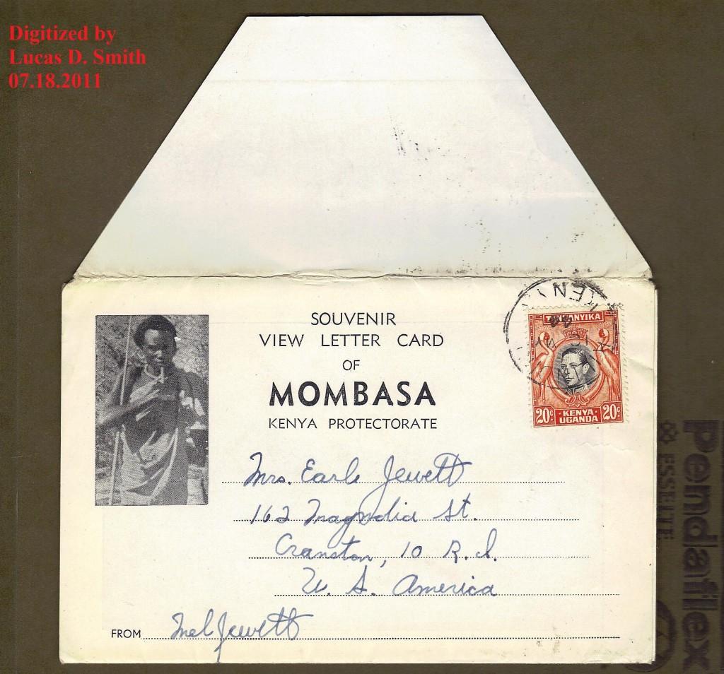 Mombasa Kenya Protectorate postmark 1944