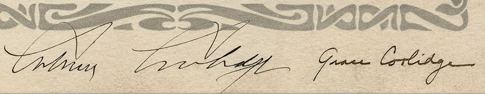 coolidge signatures