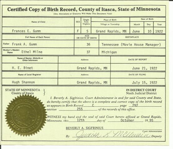 Birth Certificate Mn - Best Design Sertificate 2018