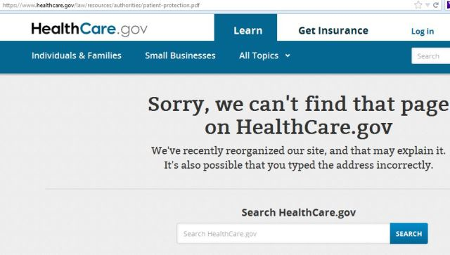 healthcare gov missing ACT