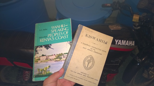 kiswahili book owned and read by Lucas Daniel Smith