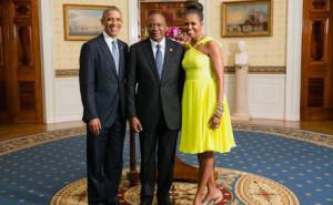 Kenya President Uhuru Kenyatta and Barack Obama white house 2014 summit