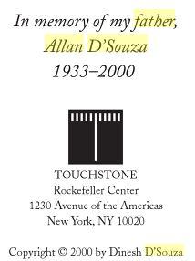 Dinesh D'Souza father Allan D'Souza 1933 2000