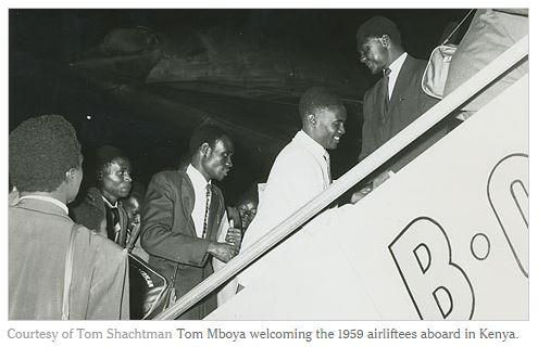 Kenya Airlift 1959 airliftees Tom Mboya Tom Shachtman Obama airport Embakasi Nairobi