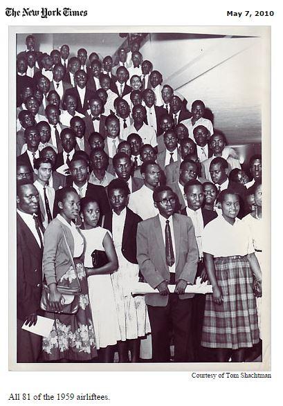 Kenya Airlift 1959 airliftees Tom Mboya Tom Shachtman Obama