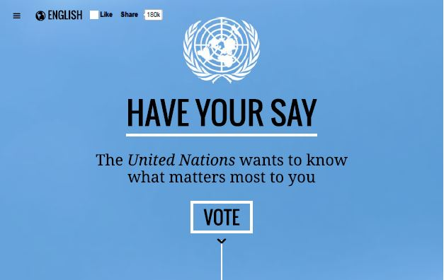 United Nations vote My World 2015 a