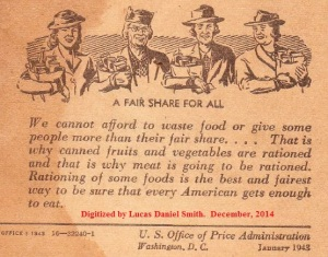 A Fair Share For All US Office of Price Administration 1943