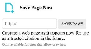 WayBack Machine Internet Archive how to save archive.org