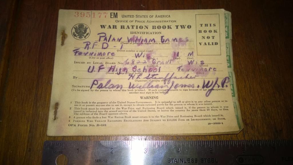 war ration book two front world war 2