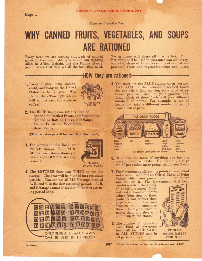 war world 2 ration book instructions 1943 page 1