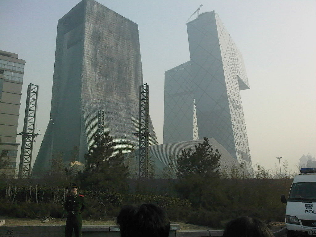 Chinese steel building burned for 6 hours 911 truth b