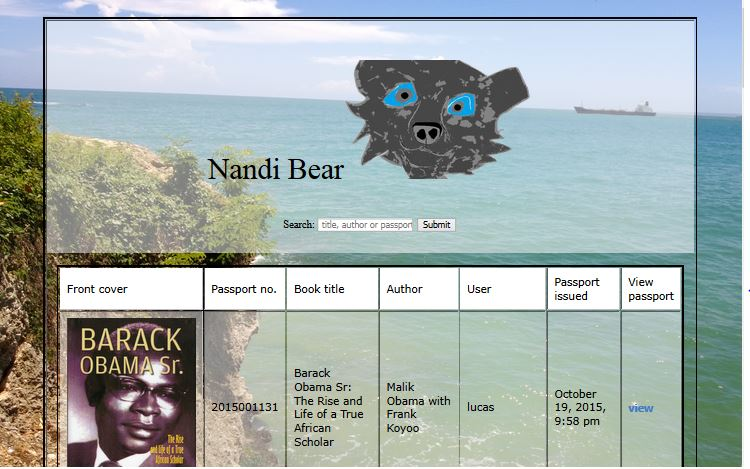 Nandibear.com books passports tracking