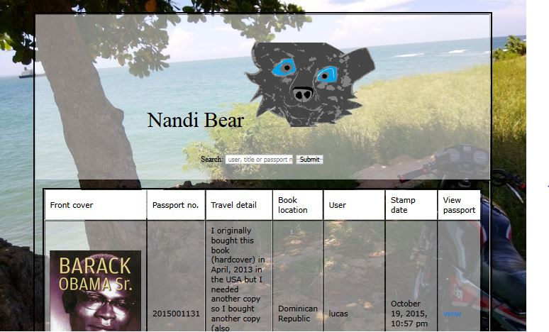 Nandibear.com books stamps tracking