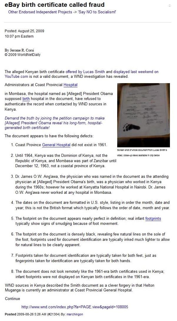 Lucas Daniel Smiths Blog When Where Was Obama Born Kenyan